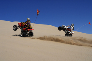 Atv On The Dunes
