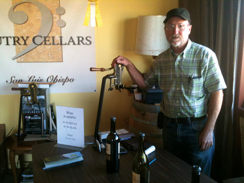 Owner, winemaker & physicist Steve Autry cooks up wine and brandy