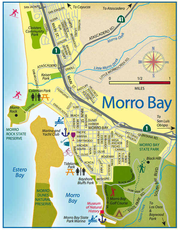 Morro Bay Map Morro Bay Travel Guide   San Luis Obispo County Visitors Guide