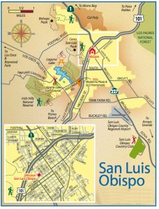 San Luis Obispo visitors map