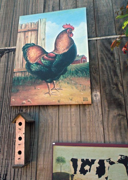 Chicken Artwork on Barn