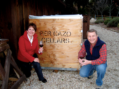 Lynne and Dave Teckman, owners of Per Cazo Cellars.