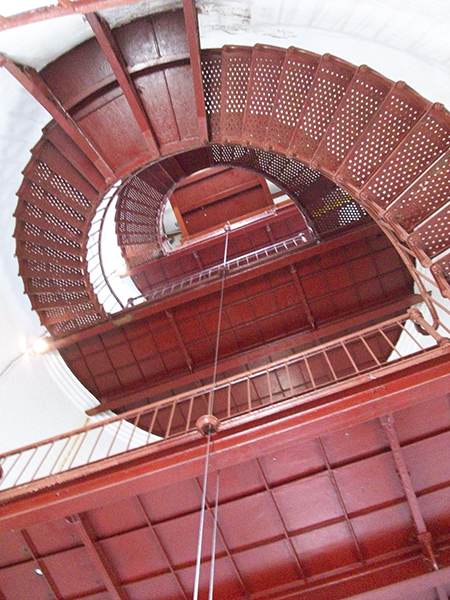 Piedras Blancas Lighthouse staircase