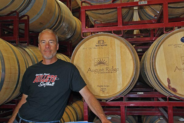 John August Backer, owner and winemaker at August Ridge.