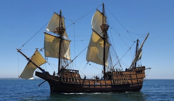 Spanish Galleon Anchors In Morro Bay San Luis Obispo