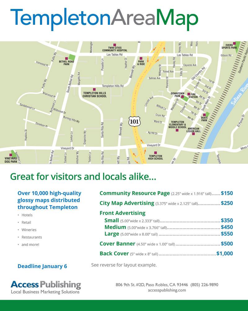 Advertise In The New Templeton Map San Luis Obispo