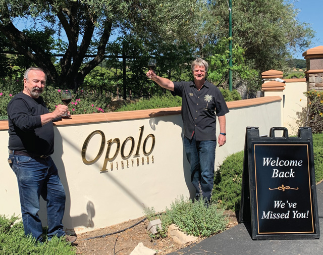 Opolo Vineyards' owners Rick Quinn (left), and Dave Nichols.